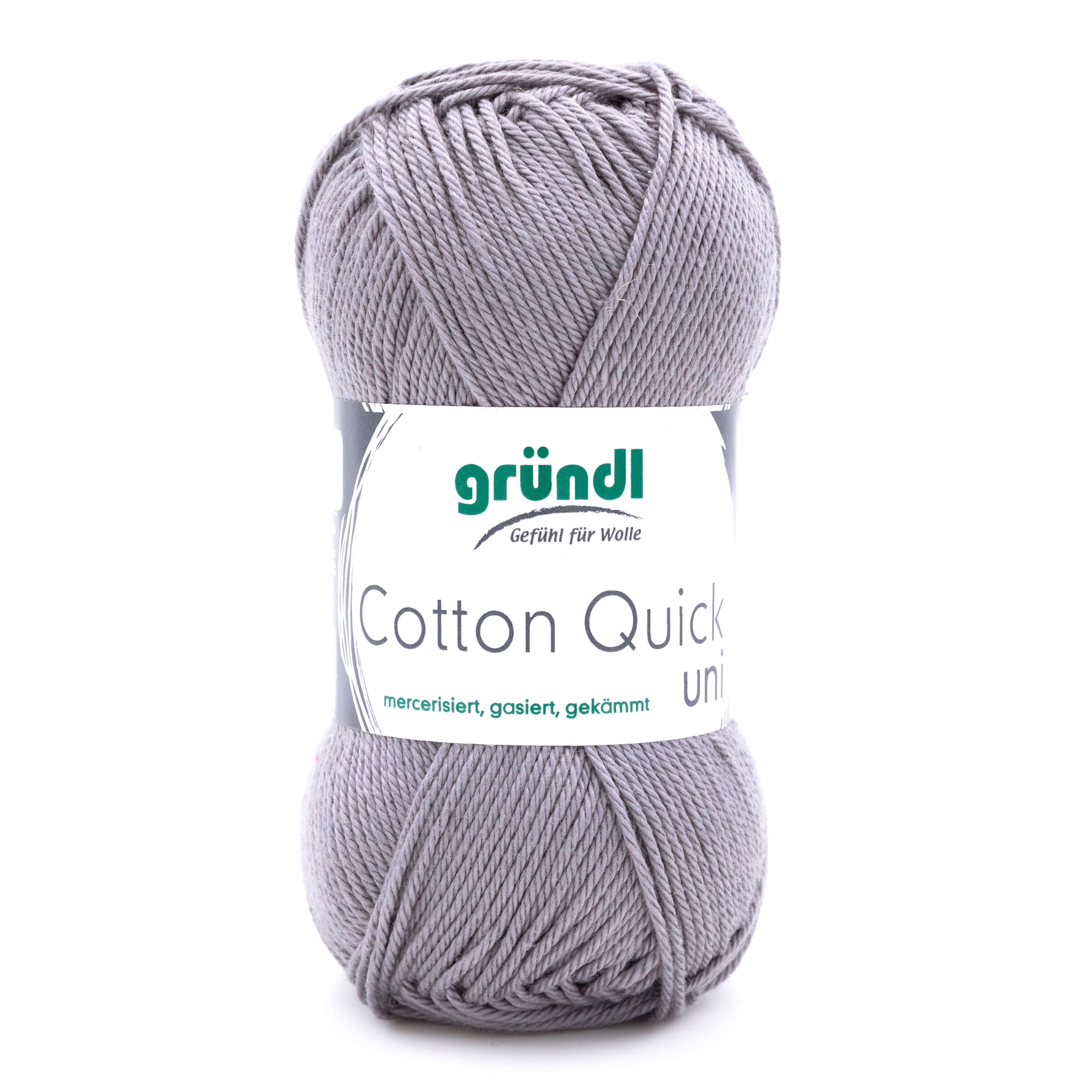 silbergraue Wolle von Gründl zum stricken und häkeln