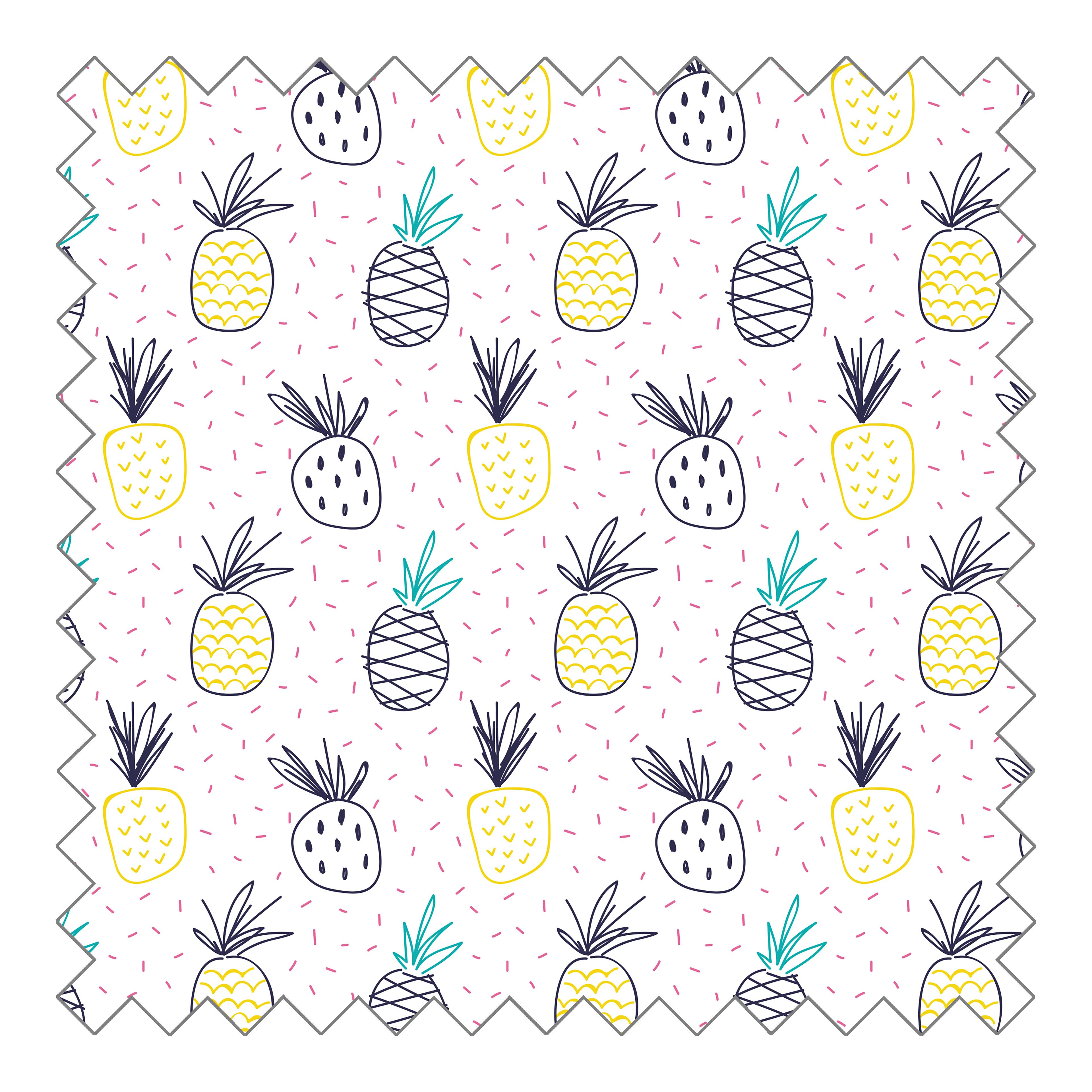 Stoffknäuel Jersey print - Pineapple