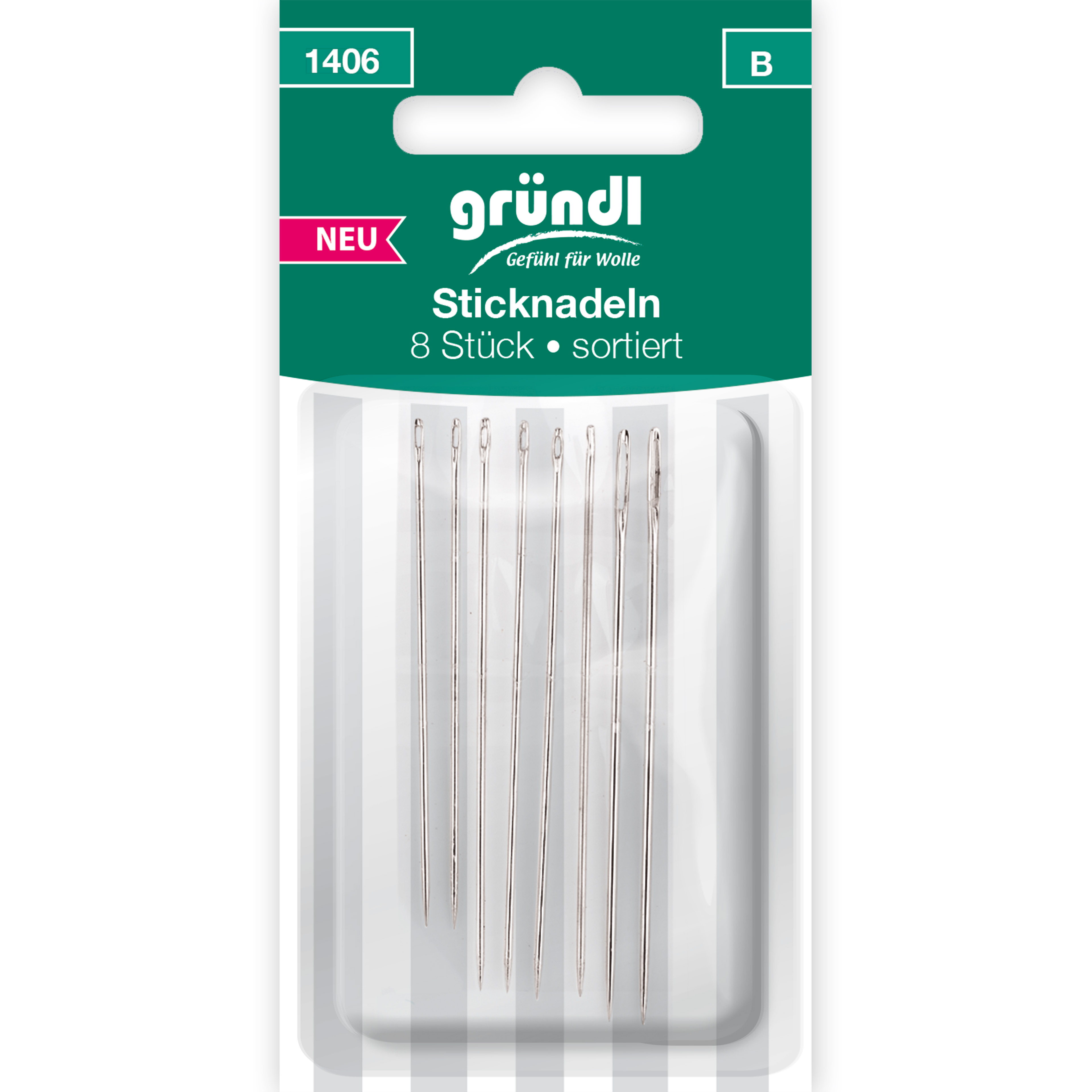 Sticknadeln mit Spitze, 8 Nadeln