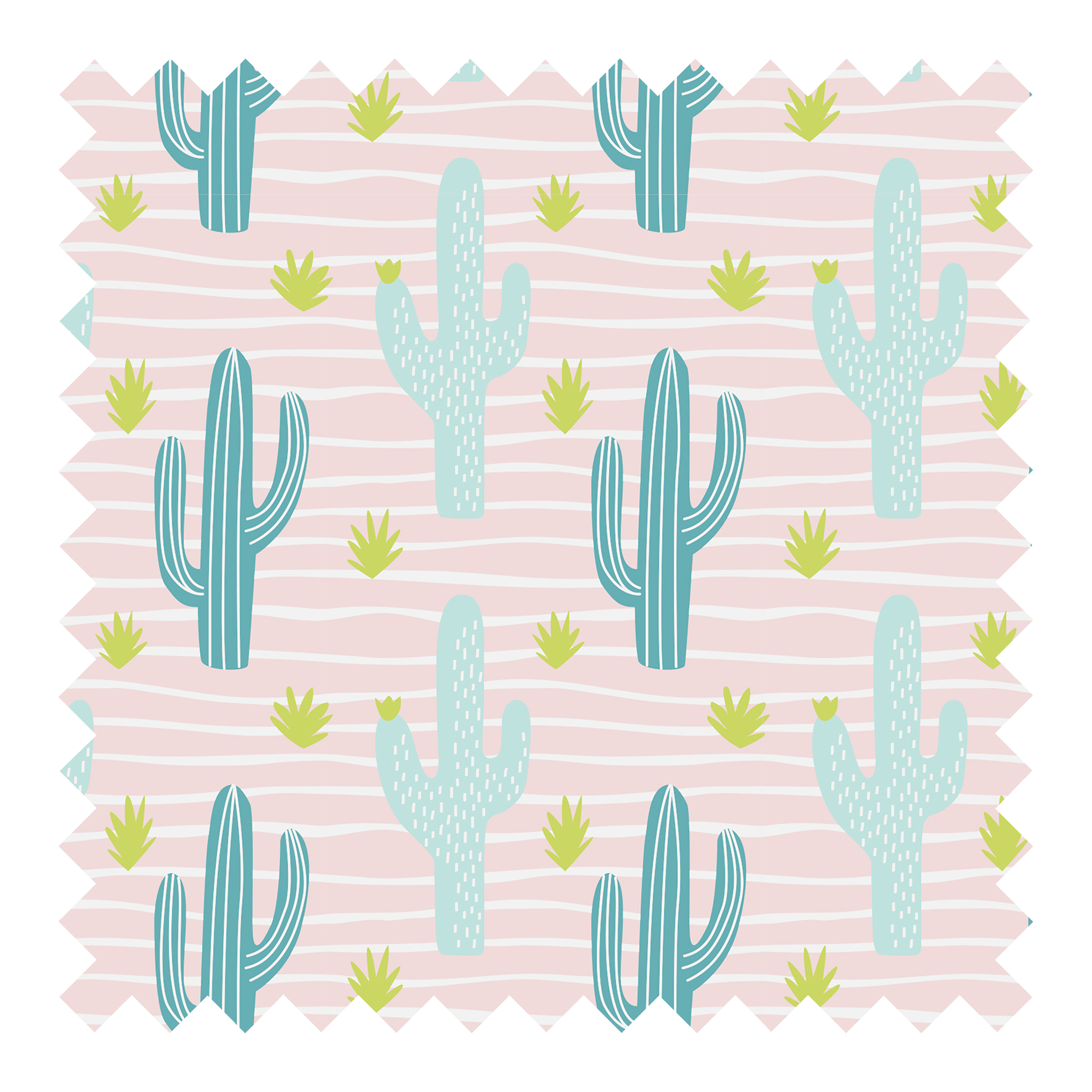 Stoffknäuel Jersey print - Cactuses
