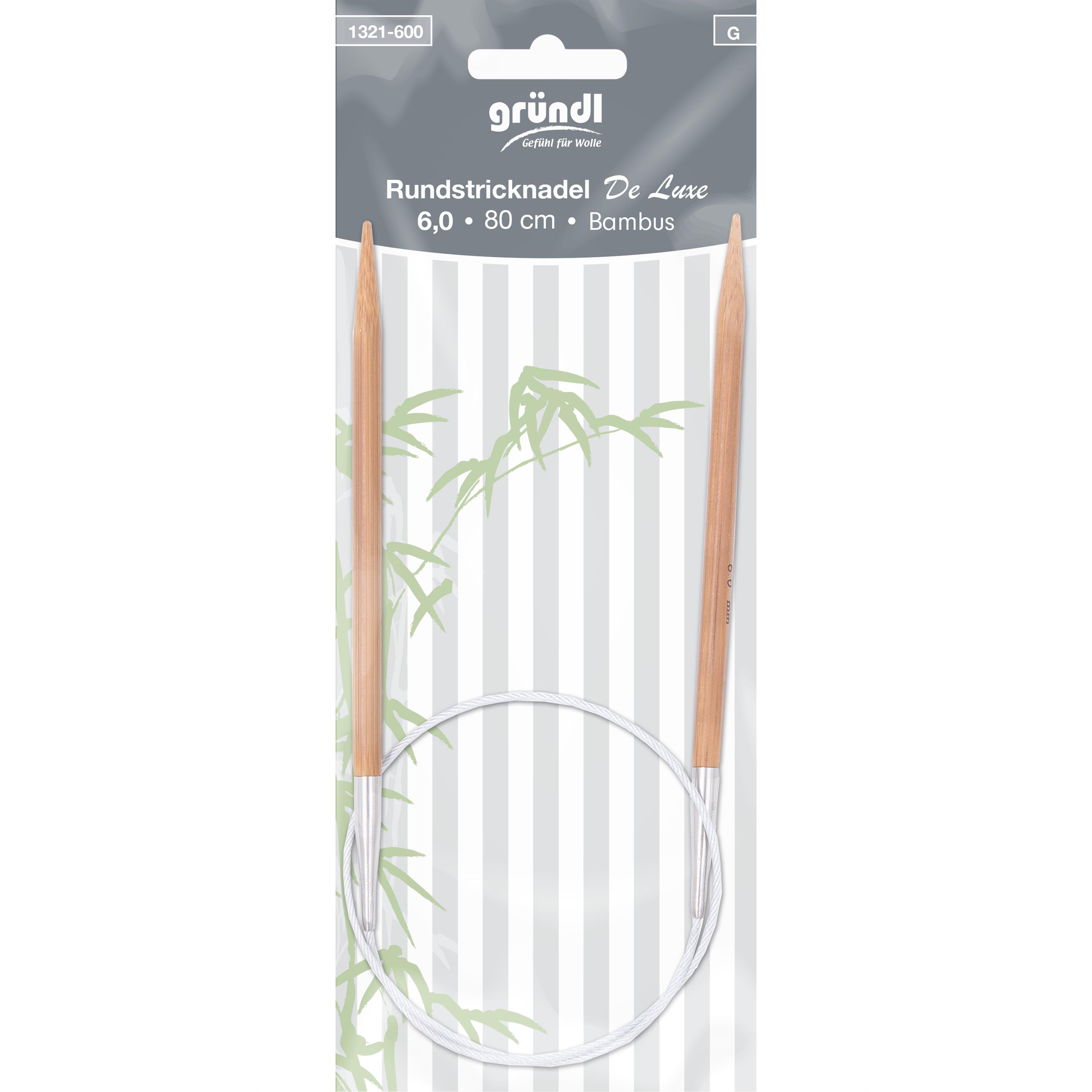 Rundstricknadel Bambus De Luxe, 80 cm