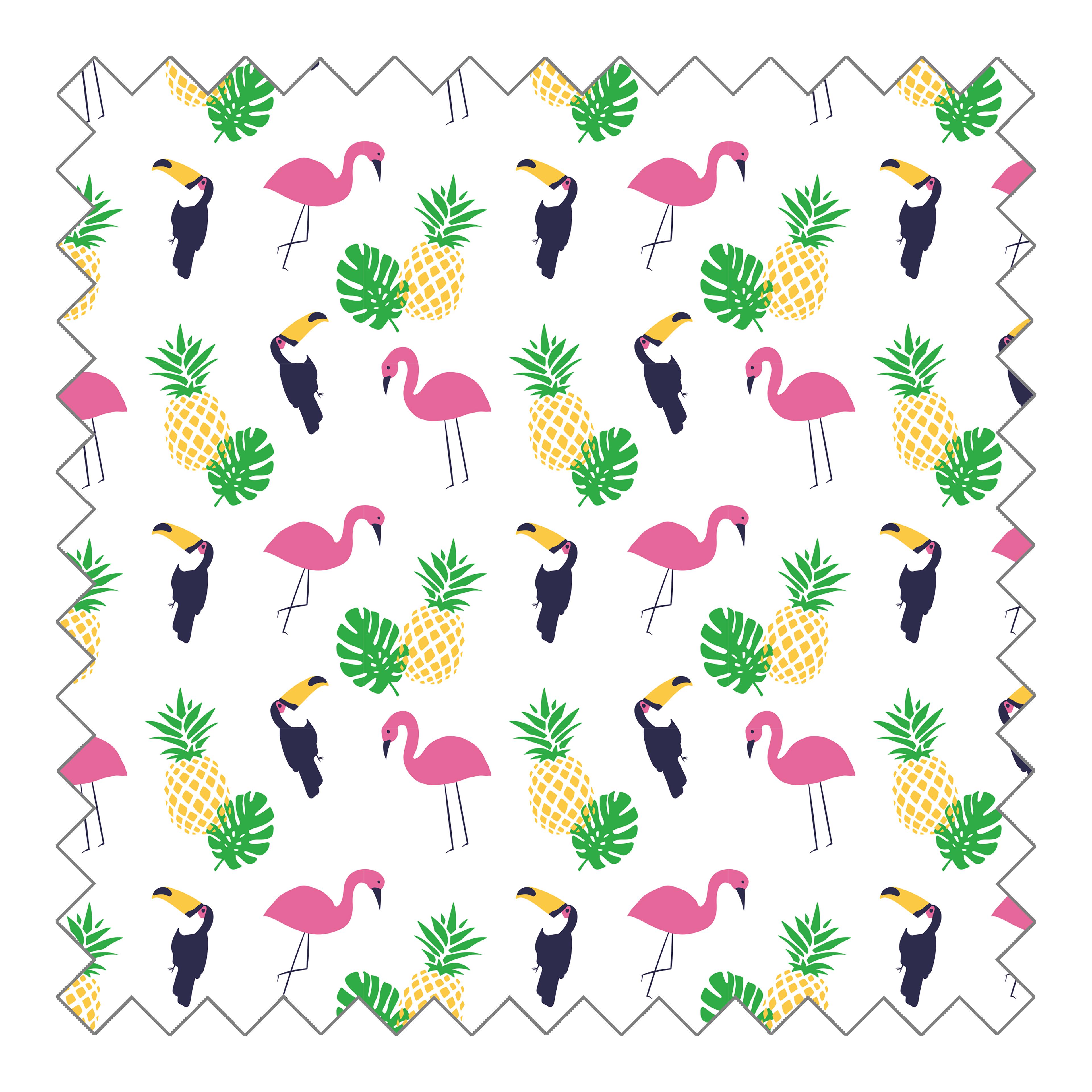 Stoffknäuel Jersey print - Tropical