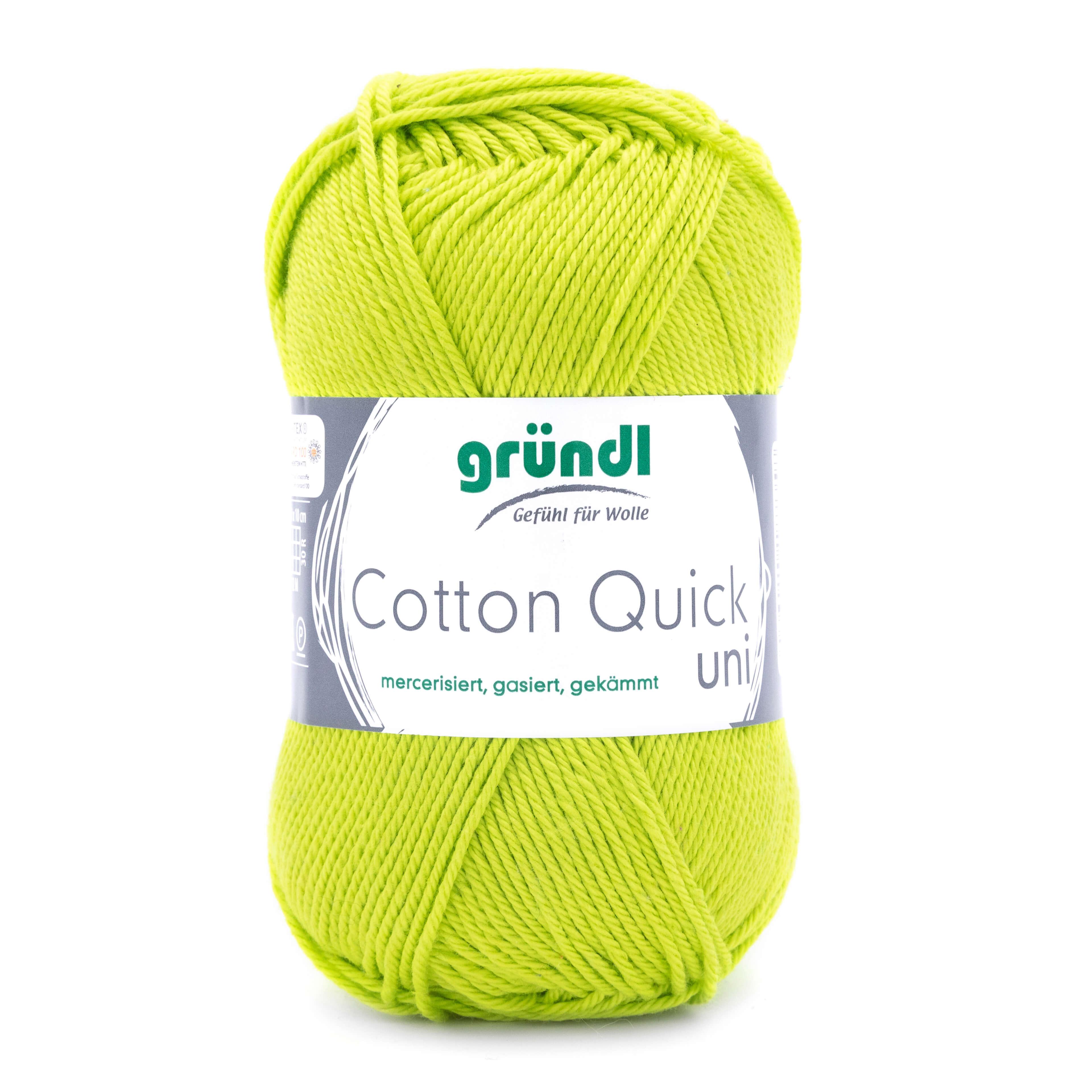 hellgrüne Wolle zum Häkeln und Stricken von Gründl Wolle
