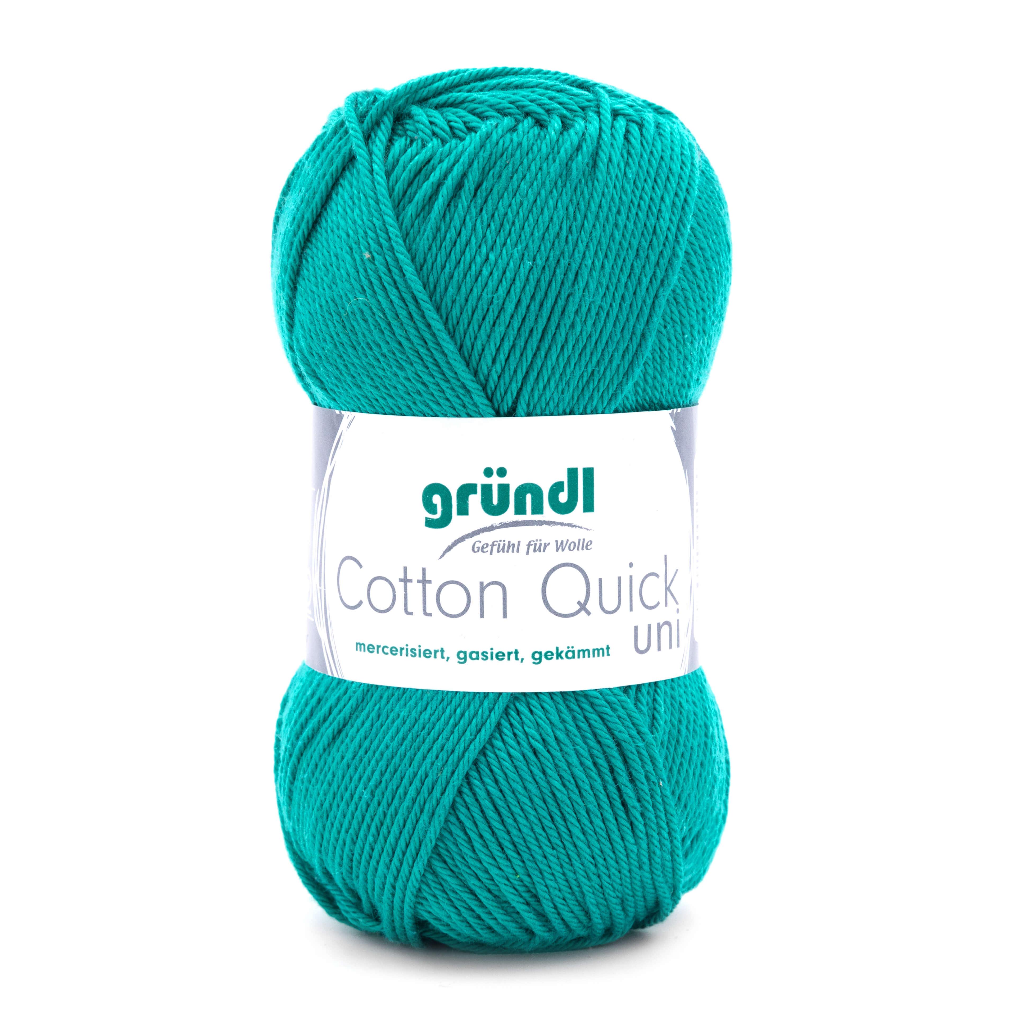 Gründl Cotton Quick uni Wollknäuel in Petrol