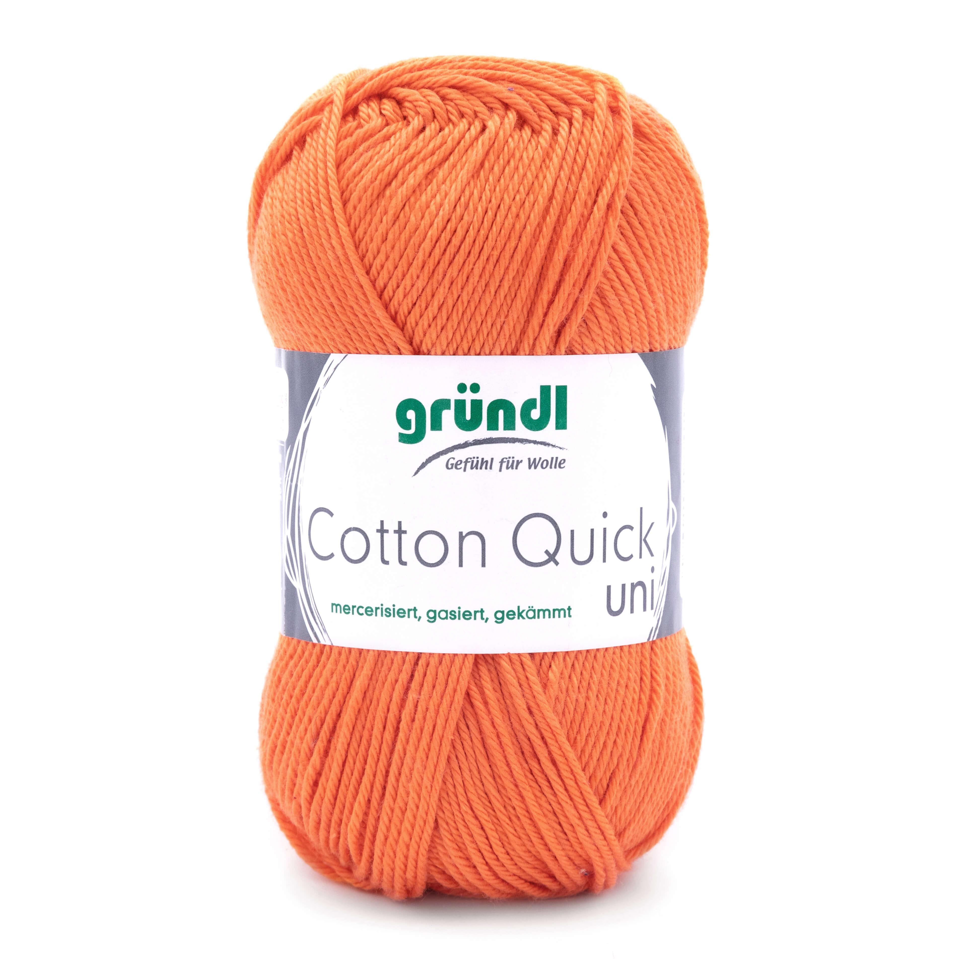 Orangefarbene Wolle zum Stricken und Häkeln von Gründl mit leichtem Glanz