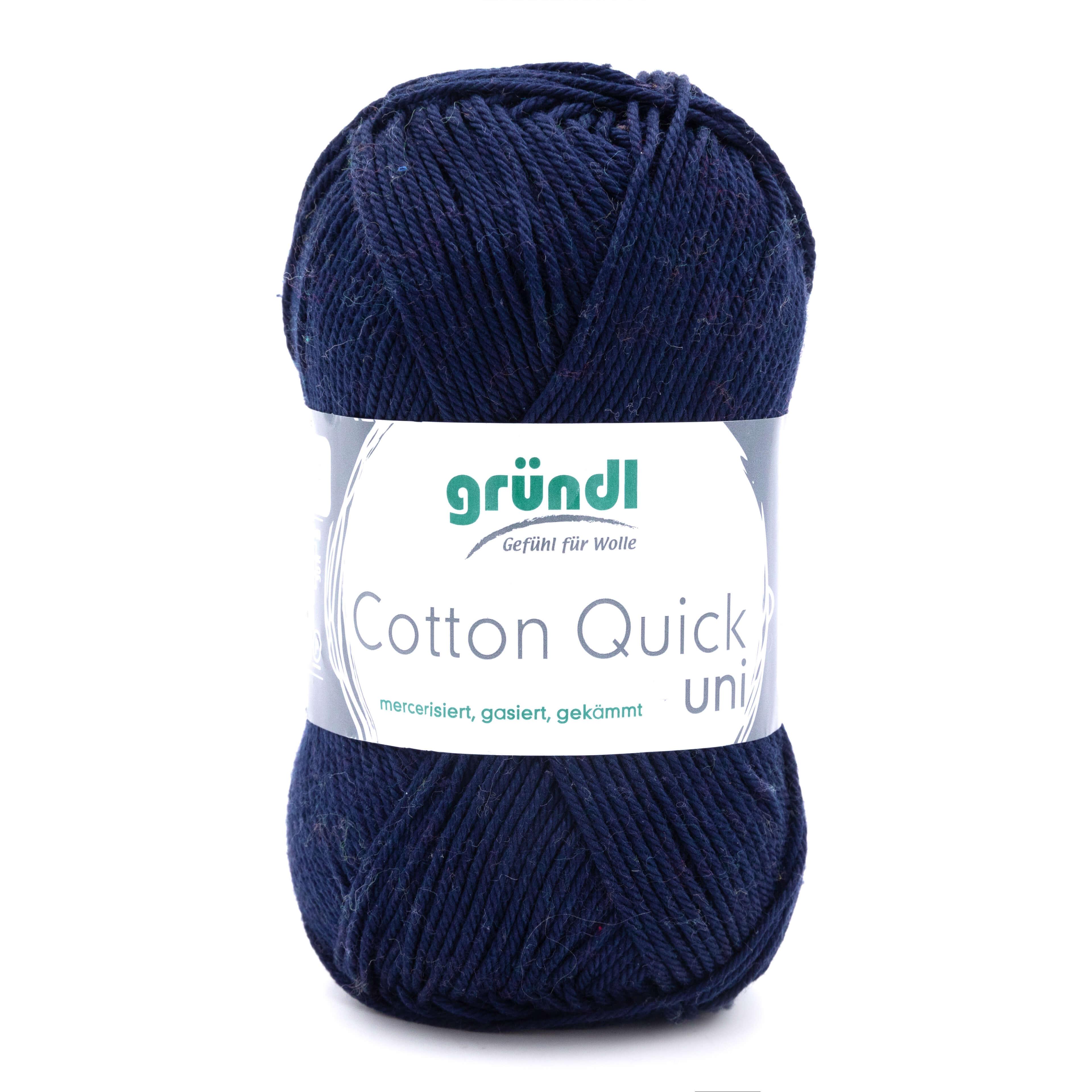 dunkelblaues Baumwollgarn zum Häkeln und Stricken von Gründl Wolle