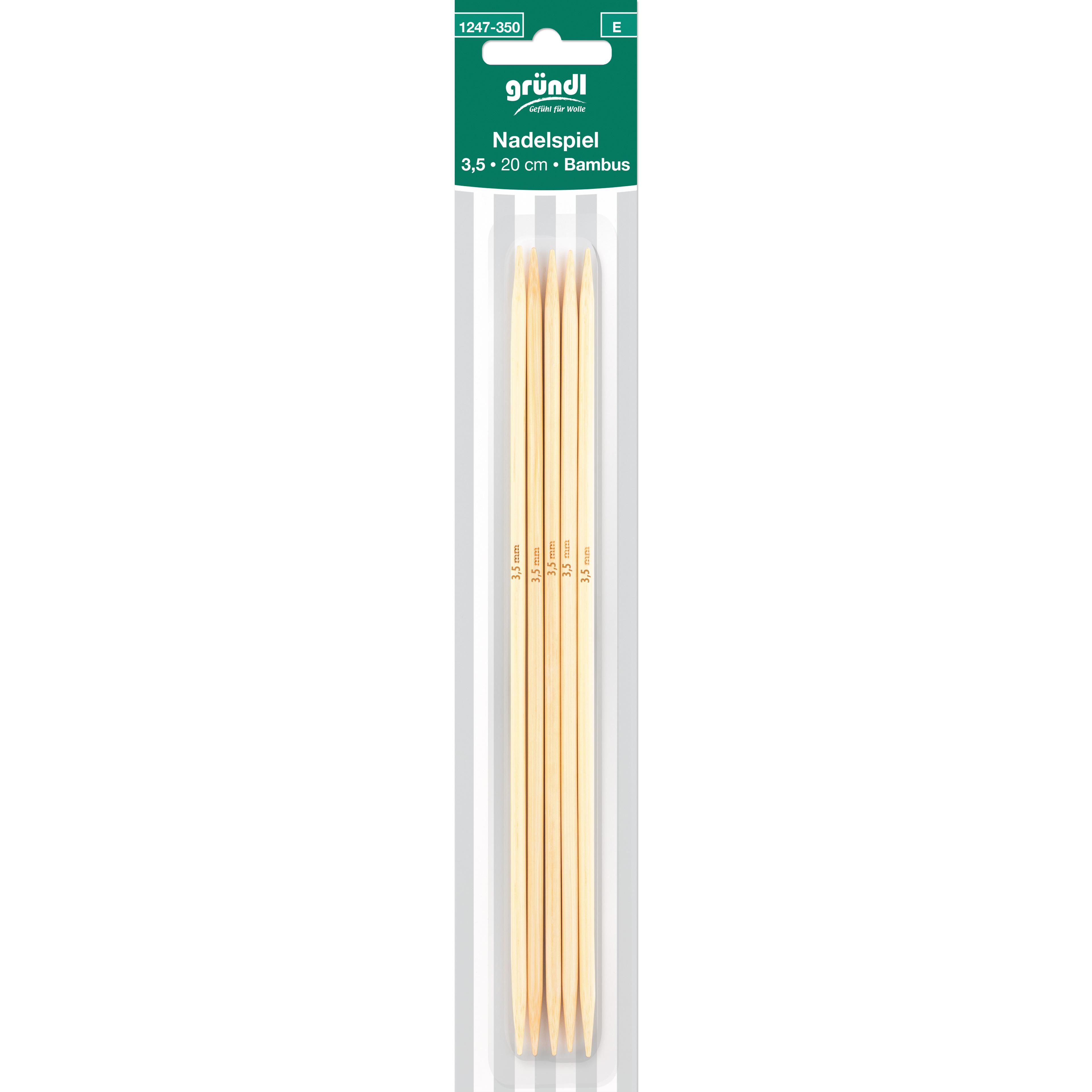 Nadelspiel Bambus, 20 cm