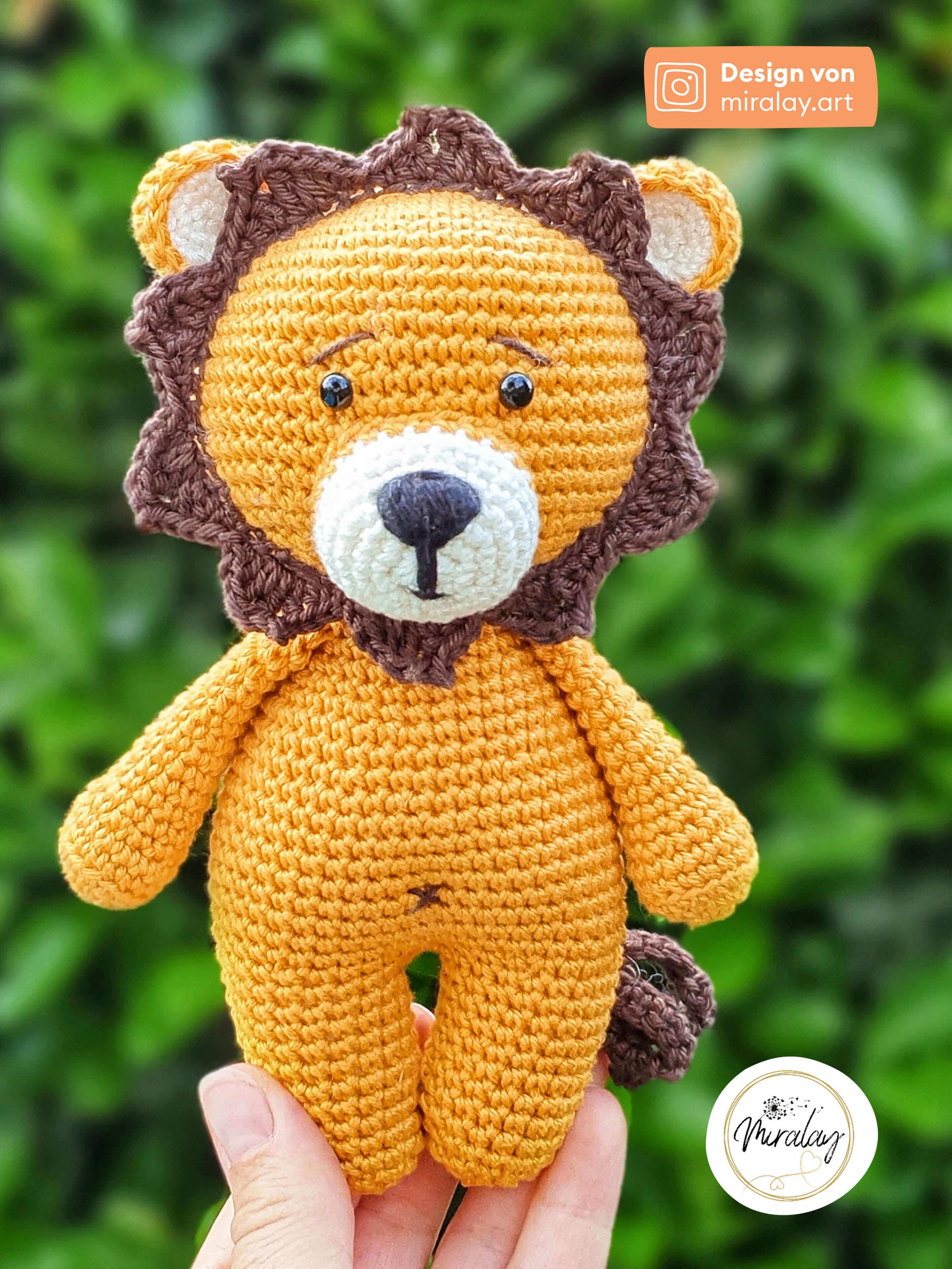 Amigurumi-Löwe Paul aus Baumwolle