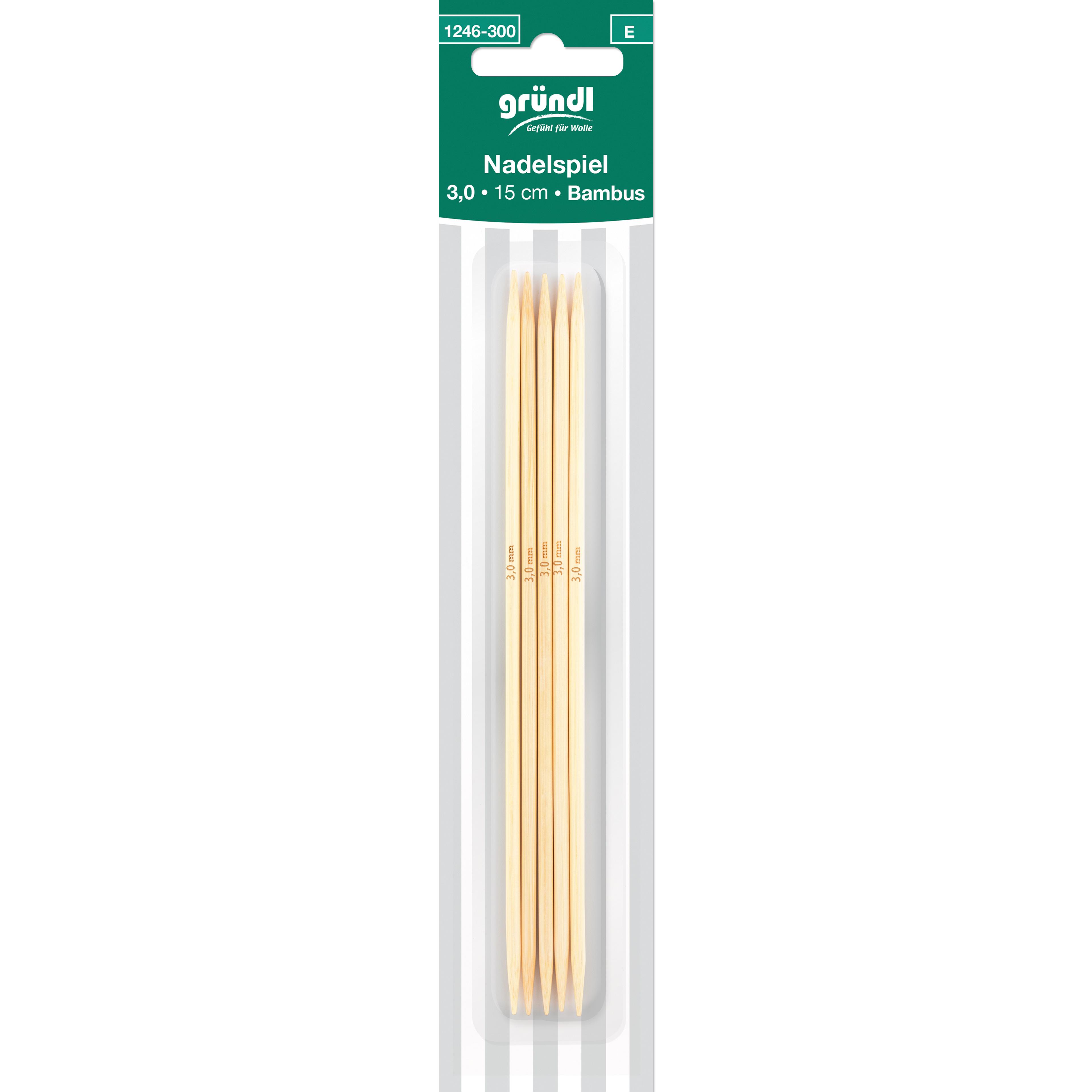 Nadelspiel Bambus, 15 cm