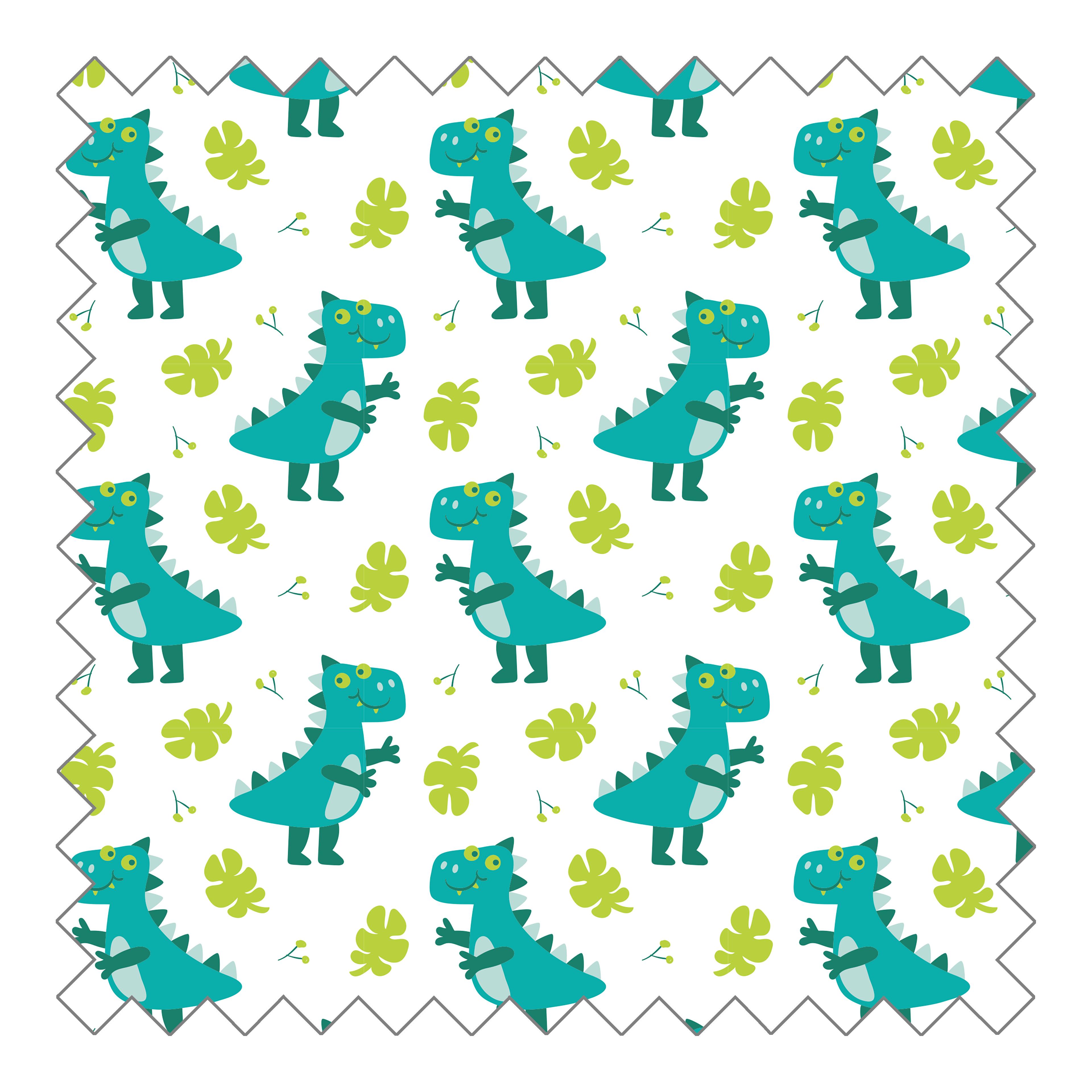 Stoffknäuel Jersey print - Dino