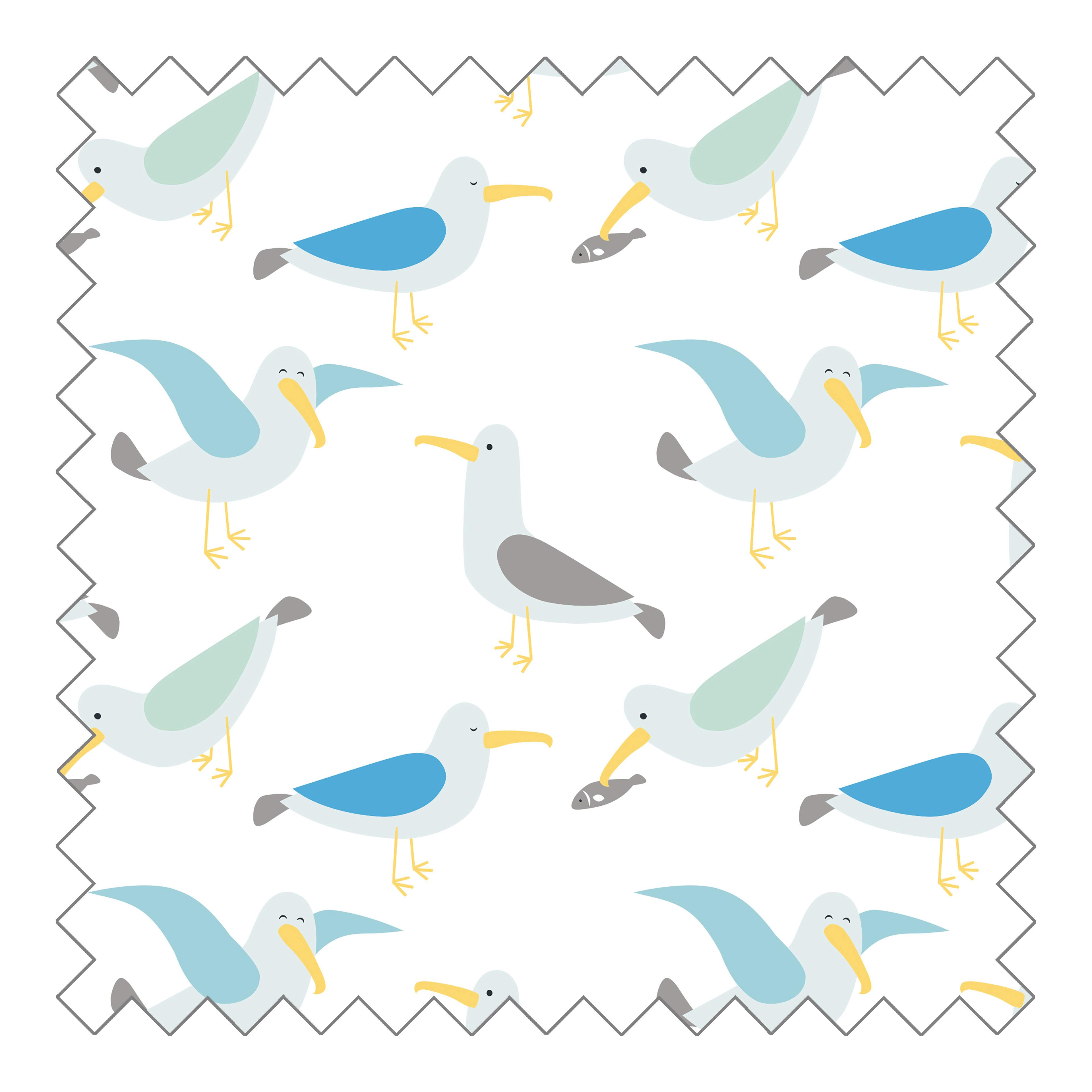 Stoffknäuel Jersey print - Gully & Fish