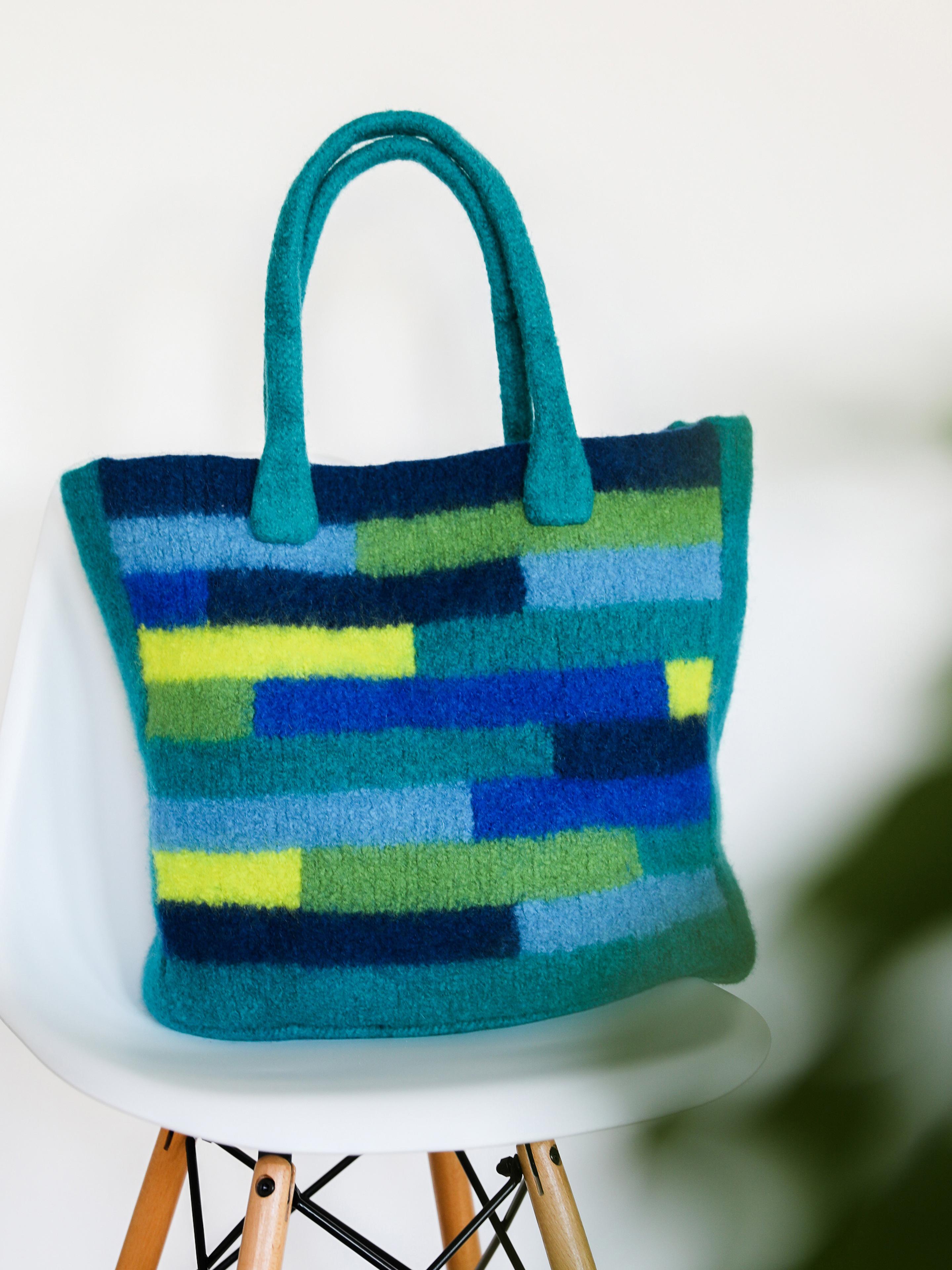 Filztasche mit interessamter Muster Shopper bag