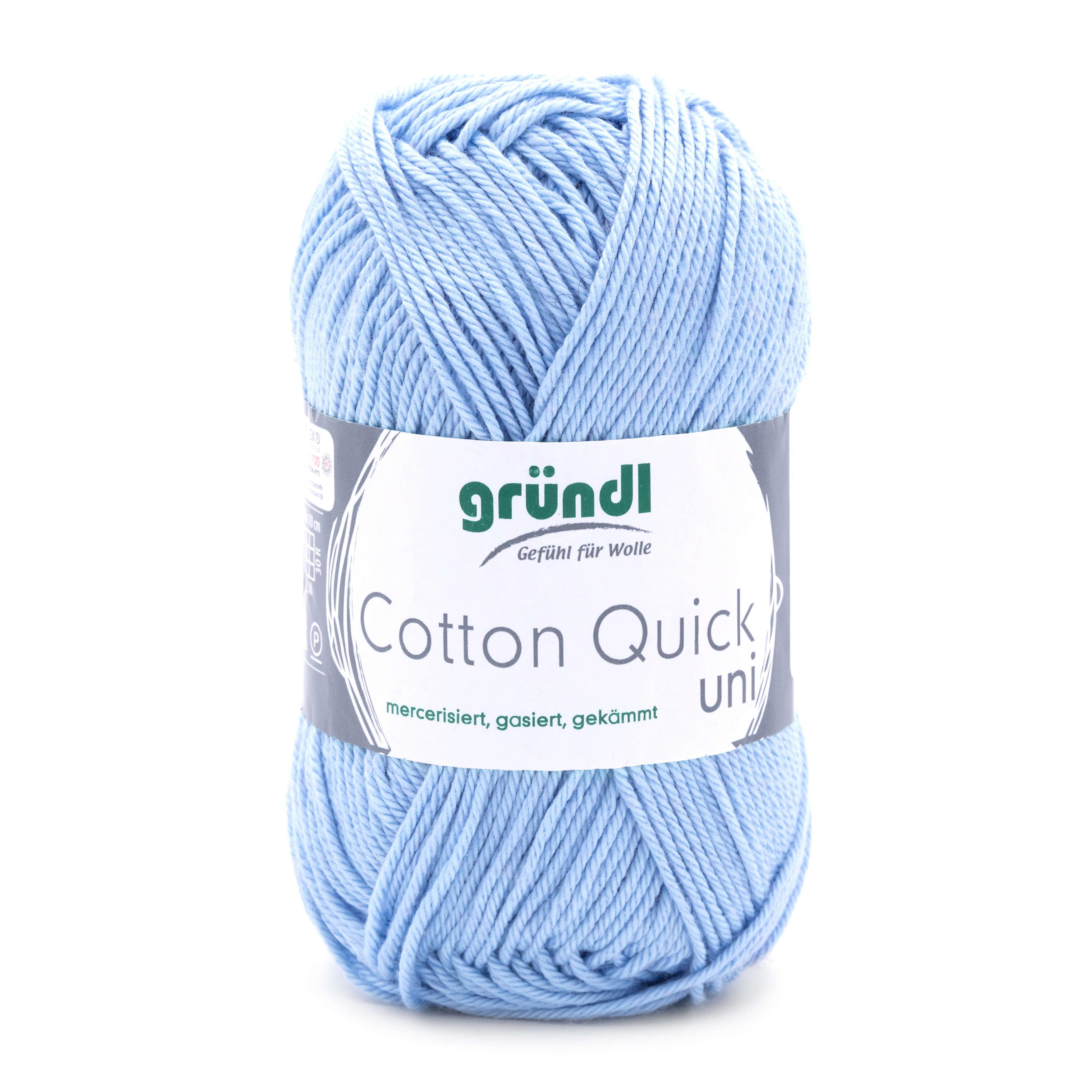 himmelblaue Wolle zum Stricken und Häkeln aus Baumwolle