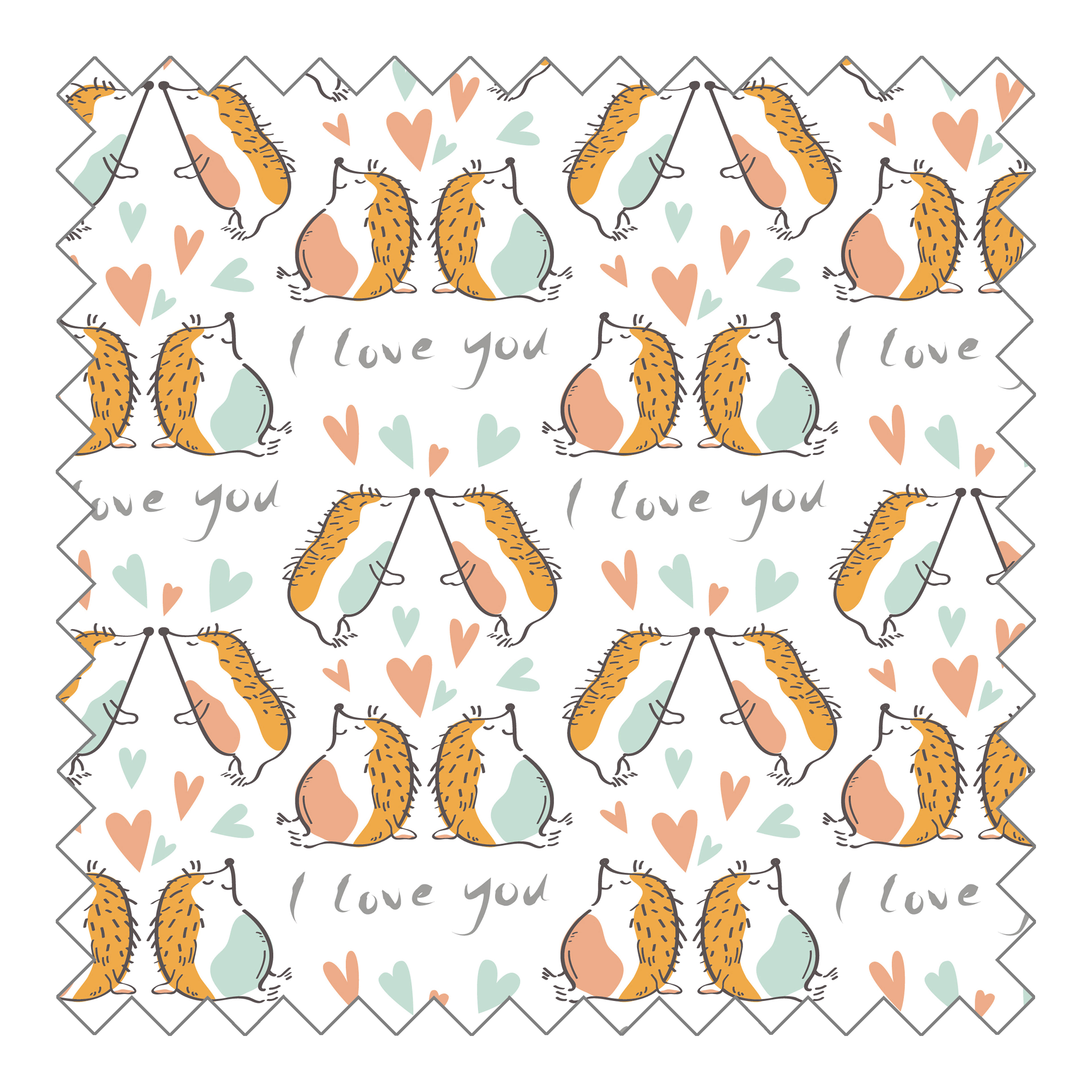 Stoffknäuel Jersey print - I love you