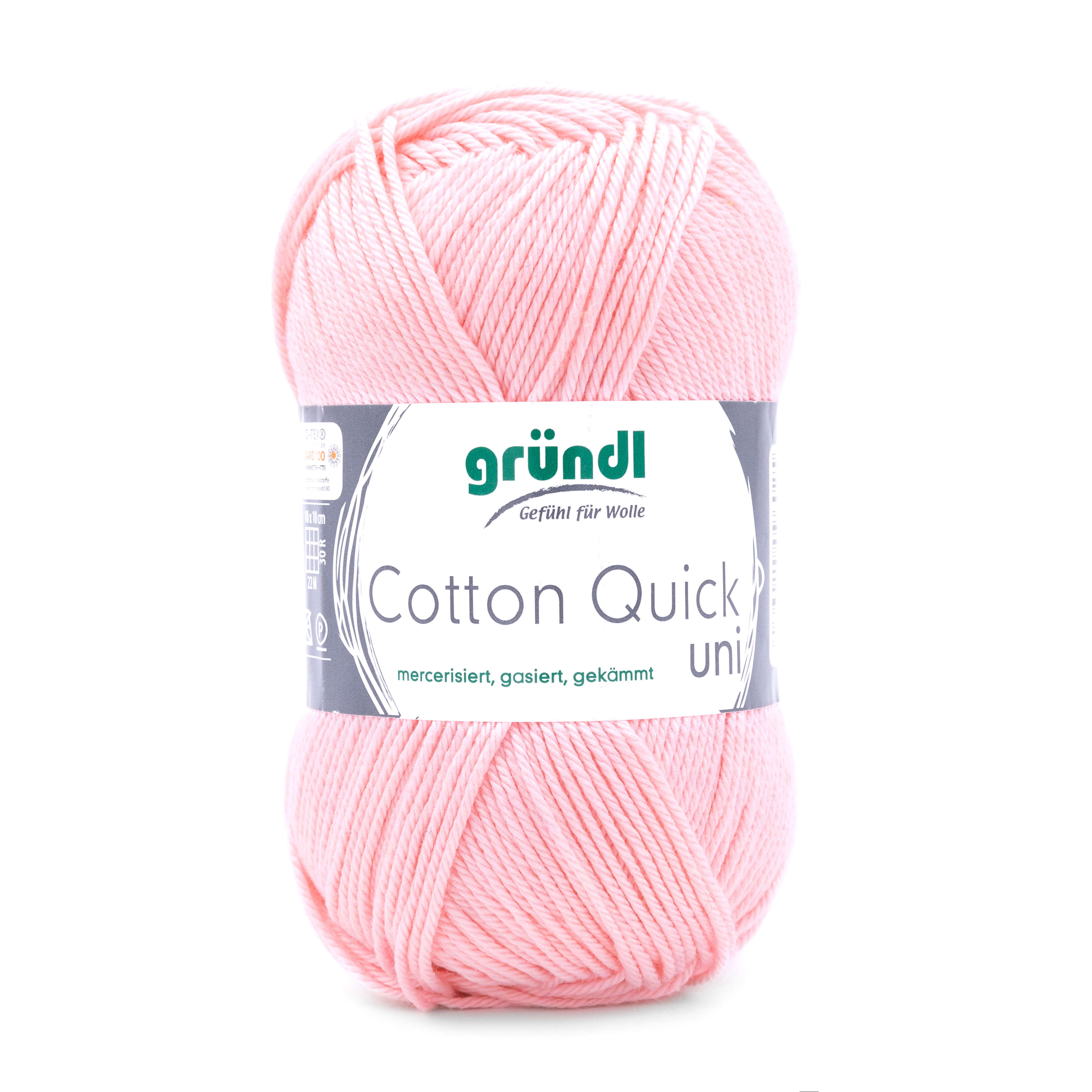 Cotton Quick uni Wollknäuel in rosa