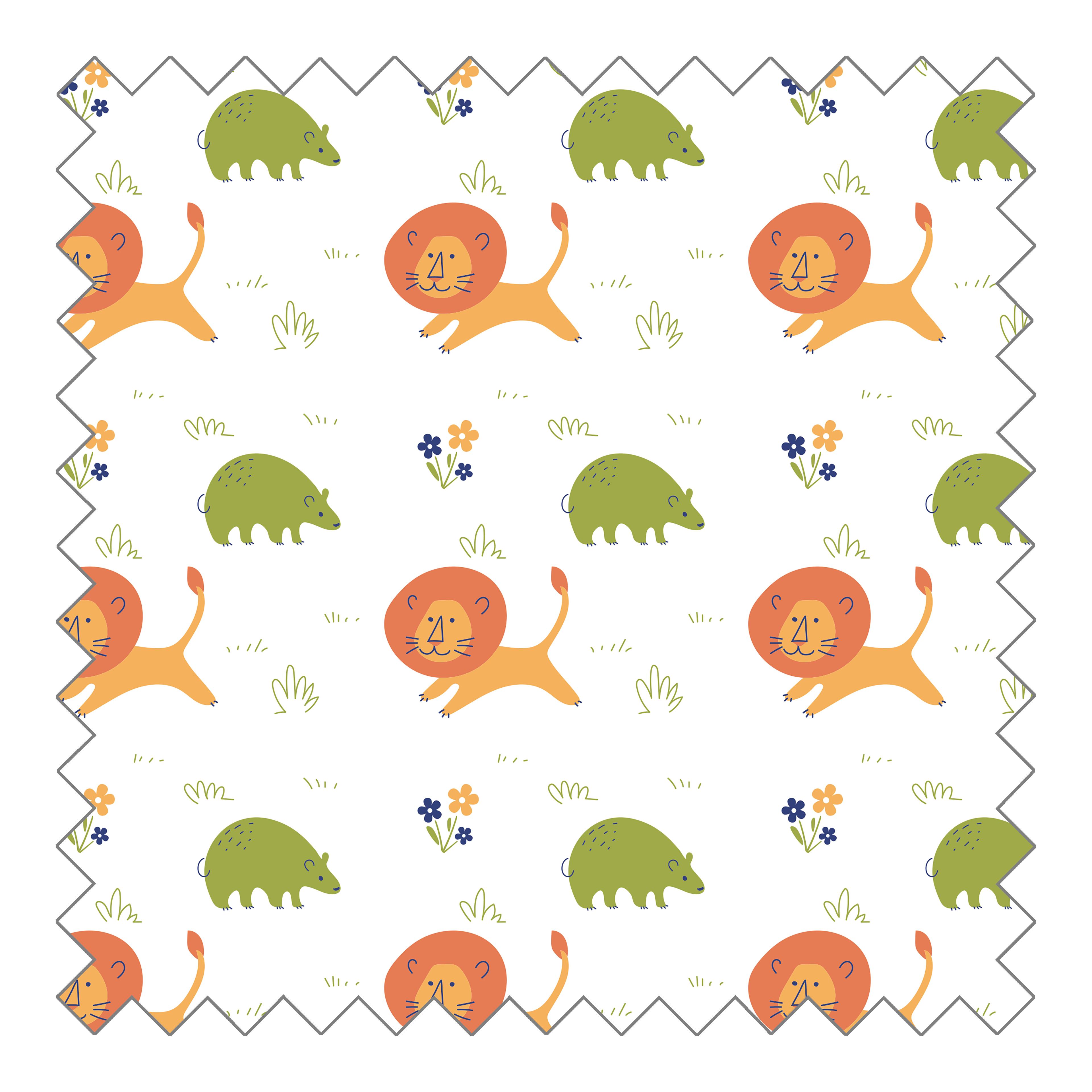 Stoffknäuel Jersey print - Safari
